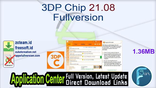 3DP Chip 21.08 Fullversion