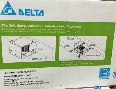 Delta Breez Ventilation System Bath Fan and LED Light VFB80HLED2 – Stop fogging up your bathroom