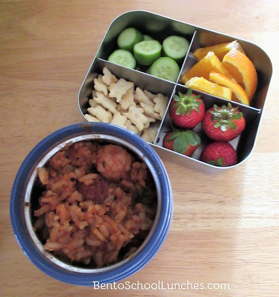 How To Pack Hot Lunches For School - Jambalaya