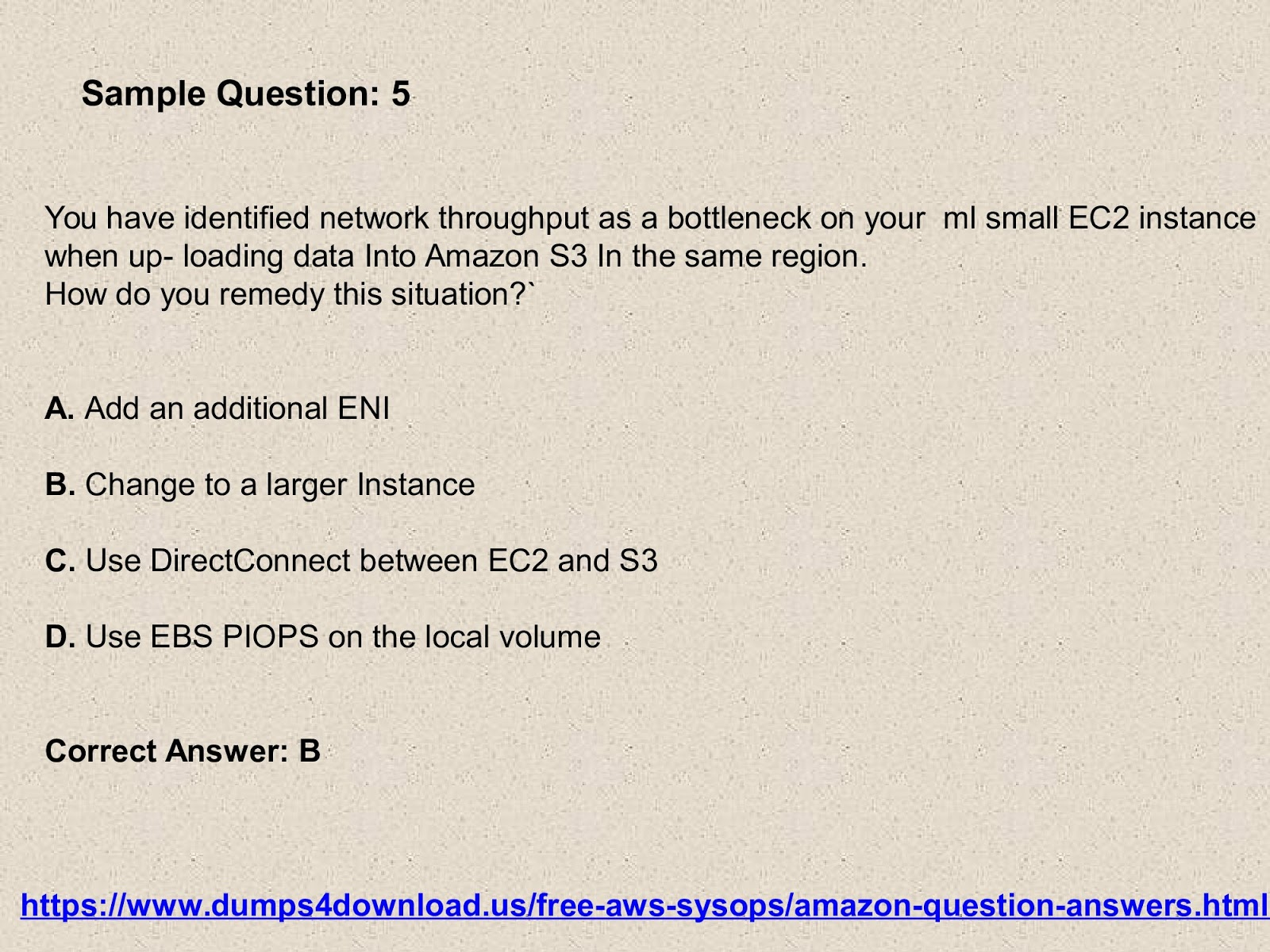 Amazon aws sysops exam dumps question posted by janifer paul at 0523 1 comment 1betcityfo Images