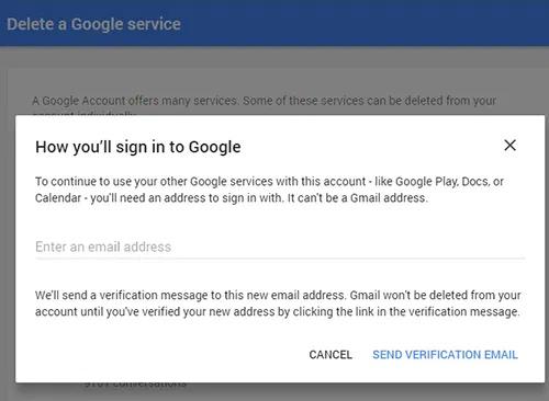 حذف حساب Gmail الخاص بك بشكل نهائي