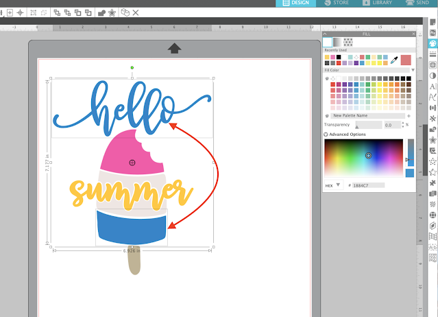Stickers, Silhouette Studio, fill color tool, compound path, print and cut