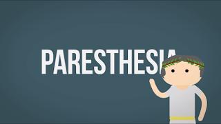 kesemutan atau paresthesia berasal dari yunani