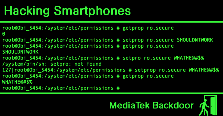 Hacking Smartphones Running on MediaTek Processors