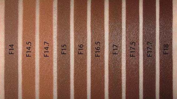 Fond Teint Liquide Conceal Define Makeup Revolution Swatch