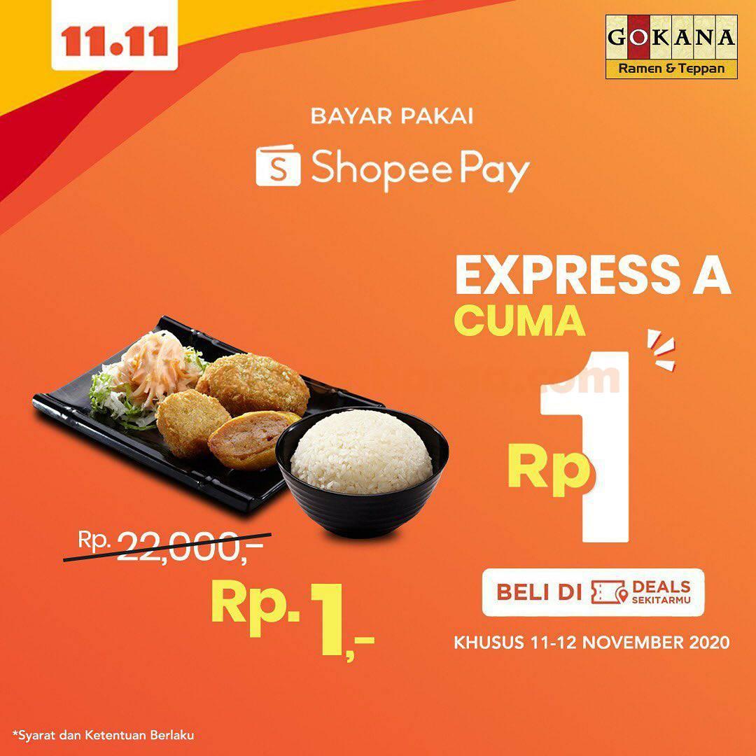 Gokana Promo 11.11 bayar pakai Shopeepay Express A cuma Rp 1