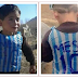 @messi10stats Pictured wearing a plastic bag with 'Leo Messi 10' written on it? is Murtaza Ahmadi