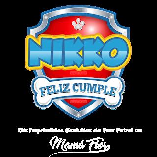 Logo de Paw Patrol: Nikko