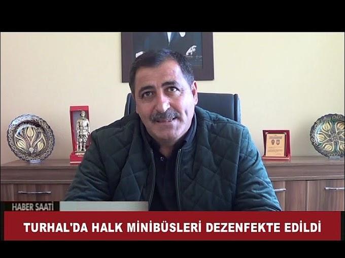 TURHAL'DA HALK MİNİBÜSLERİ KORONAVİRÜS TEDBİRLERİ KAPSAMINDA