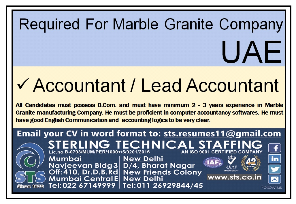 Required for Marble Granite Company