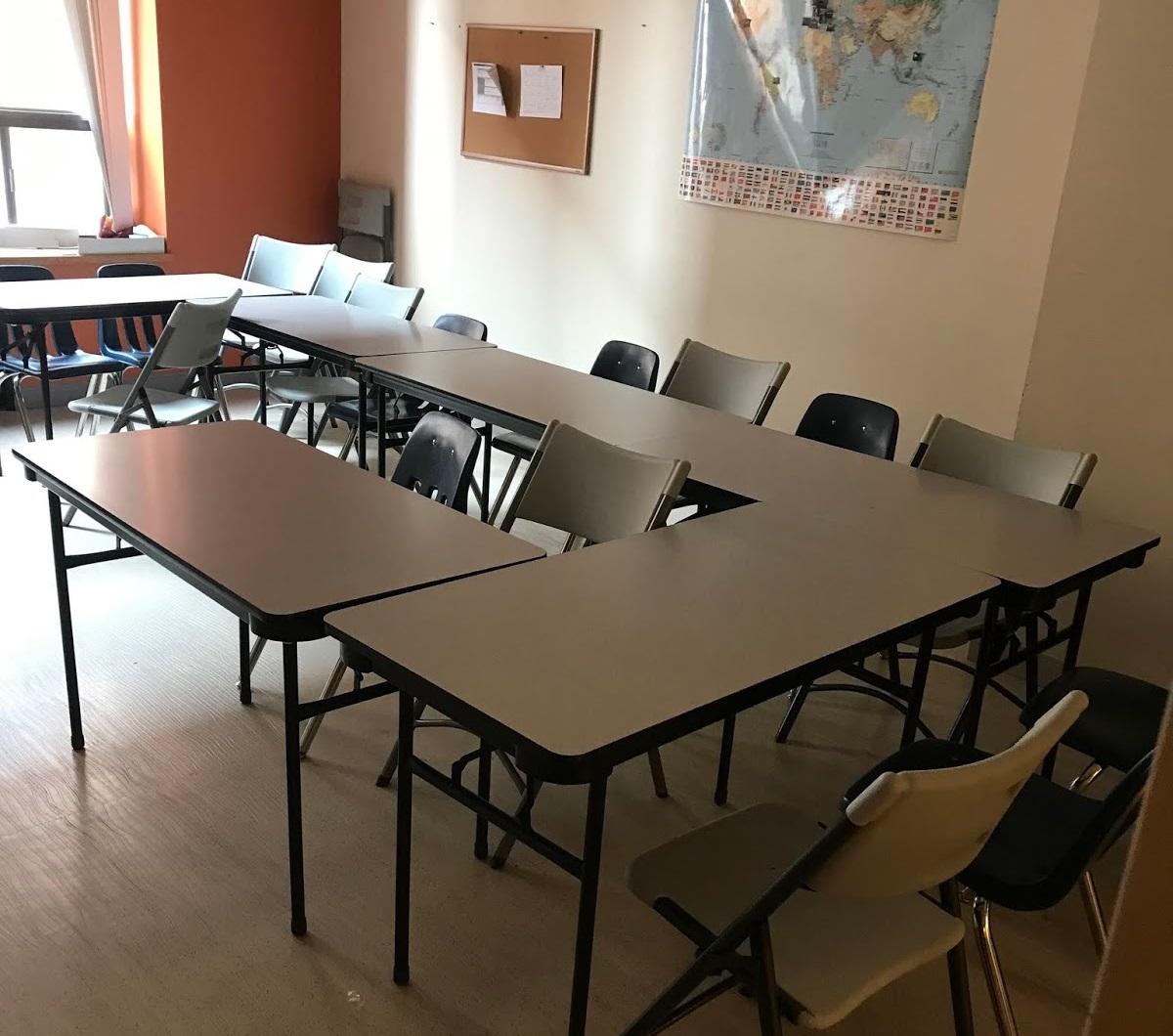 Como é a sala de aula na ILSC Montreal?