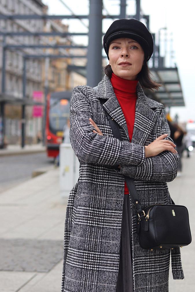 szary płaszcz stylizacje 2021 2022