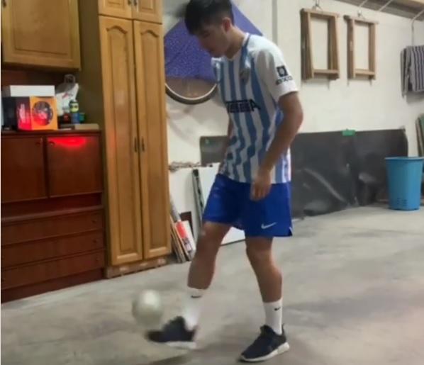 Málaga, Julio muestra su calidad técnica en Instagram