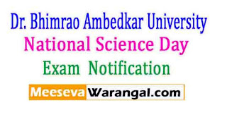 Dr. Bhimrao Ambedkar University, Agra National Science Day Feb,2017 Notification