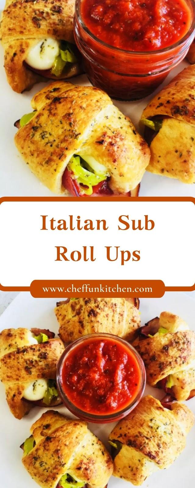 Italian Sub Roll Ups