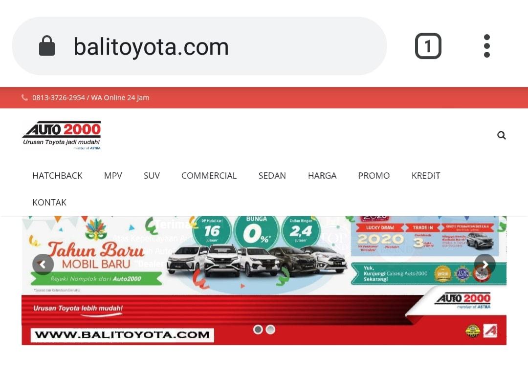 Website Bali Toyota By Bayu-Media Web & Ads