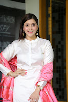 Mannara Chopra in Silky White Salwar Suit with Pink Chunni Latest Exclusive Pics March 2017 ~  032.JPG
