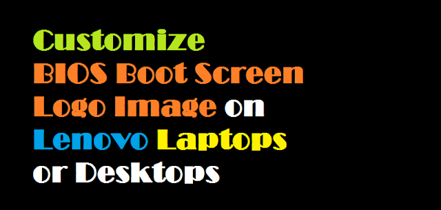 how to change the bios boot screen logo image