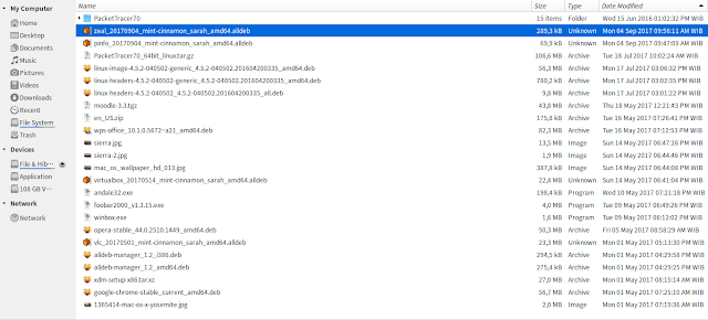 Lokasi File Unduhan Alldeb