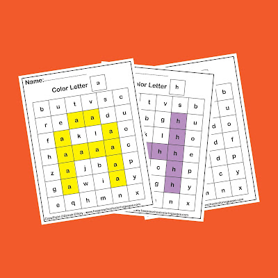 color by letter free preschool coloring pages for kindergarten