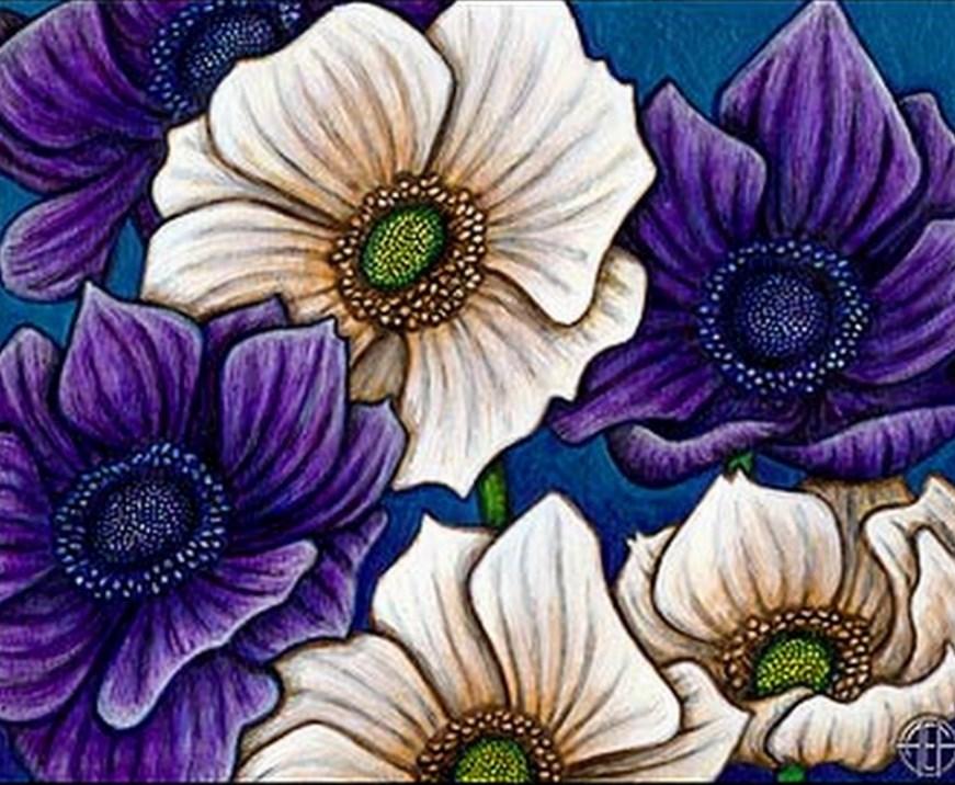 Cuadros modernos pinturas y dibujos modernas flores al leo - Cuadros flores modernas ...