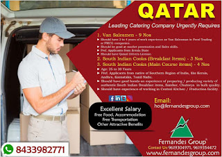 Catering Company Requires in Qatar
