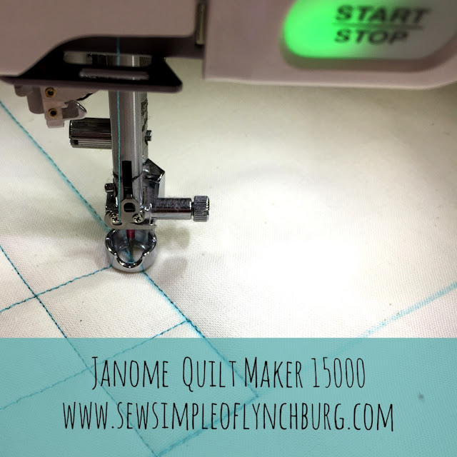 Janome Quilt Maker 15000 ruler foot