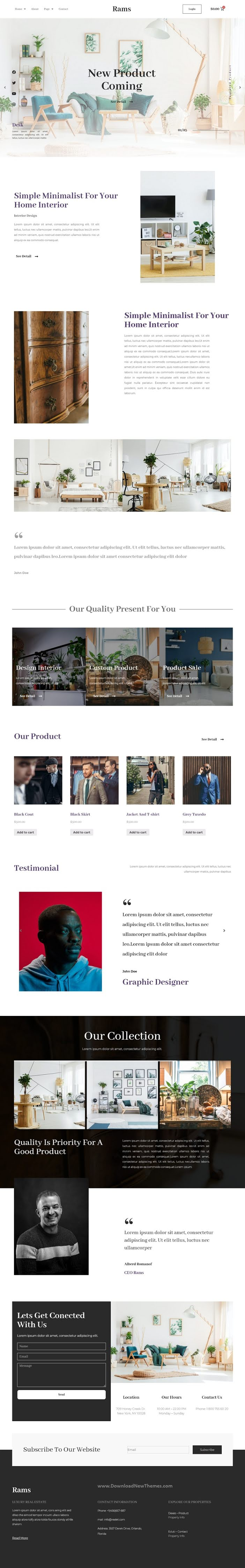 Furniture eCommerce Elementor Template Kit