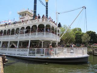 Mark Twain Riverboat from Tom Sawyer Island Disneyland