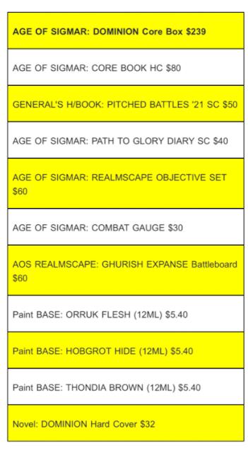 Filtraciones del reglamento de Age of Sigmar y precio de Dominion