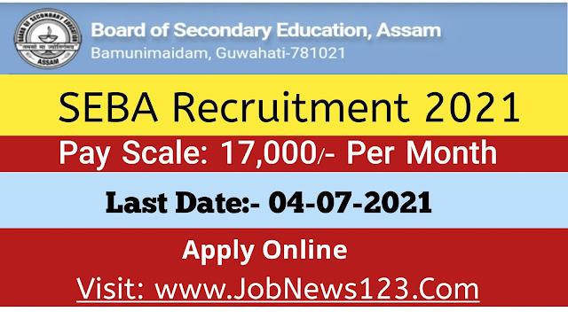 SEBA Recruitment 2021: