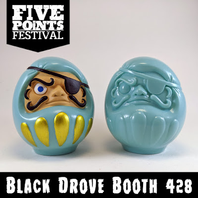 Five Points Festival 2019 Exclusive Kaizoku Daruma Vinyl Figure by PNL Toy Works