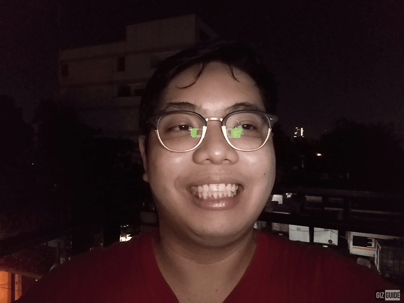 Huawei Y7 selfie low light with flash