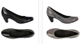 zapatos tacon de piel