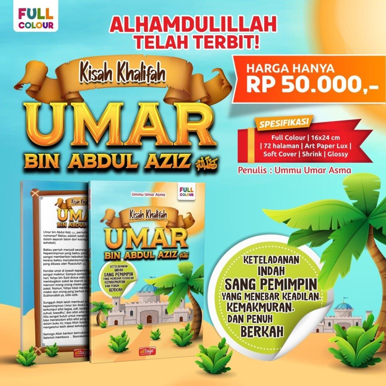 Buku Kisah Umar bin Abdul Aziz Full Color Attuqa