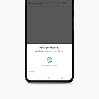 Chrome para Android aumentará la seguridad al implementar autenticación biométrica para pagos con tarjetas