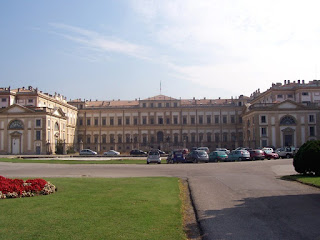 The grand Villa Reale in Monza, built in the late 18th  century for Archduke Ferdinand of Austria