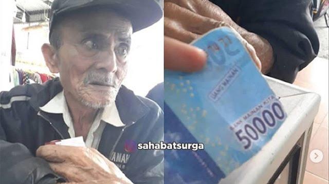 Ditipu Uang Mainan, Kakek Rabun Penjual Sayur Menangis Tak Bisa Beli Obat