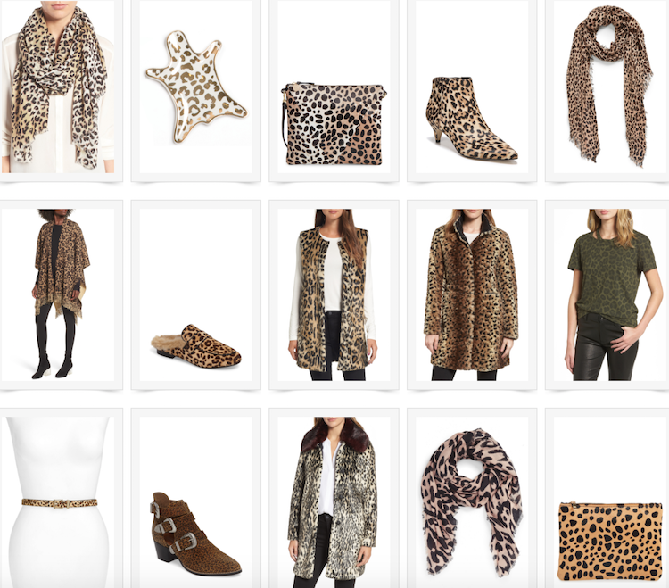 leopard print scarf, jacket, booties and handbag