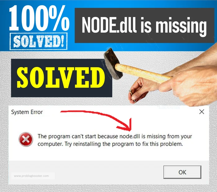 Fixing NODE.dll is missing on Windows