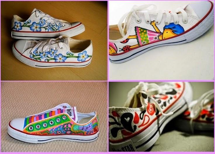 deportivas, zapatillas, customizar, tunear, manualidades