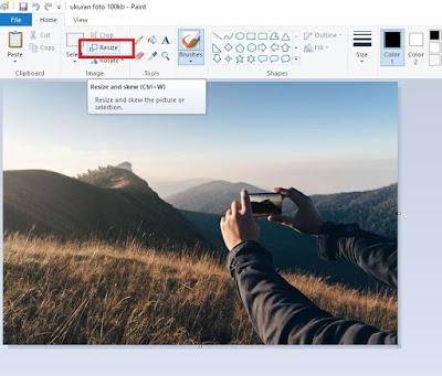 Cara Mengubah Ukuran Foto Menjadi 100kb di Paint 2