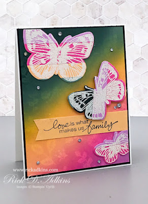 Love is What Makes Us Family card using the Magic Inking Technique click here to learn more