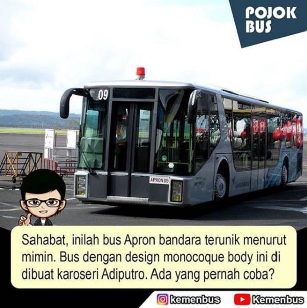 Bus Apron Bandara Terunik