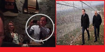 İngiltere Başbakanı Cameron,Elhovo'da meyhanede görüntülendi