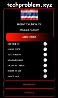 APK Regedit Tailandia VIP Antena Auto Headshot Aimbot Free Fire Antiban