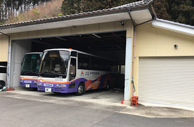 中野屋旅館 バス車庫