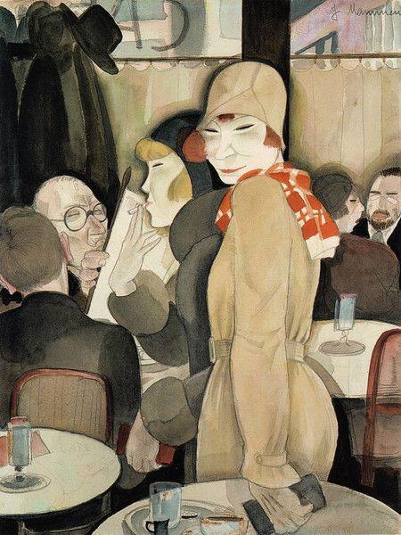 Jeanne Mammen - Romanisches Café- Berlin - 1930