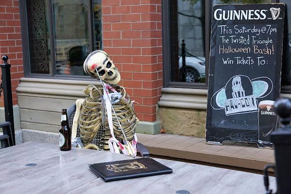 Image: Skeleton at the bar on Halloween, by photosforyou on Pixabay