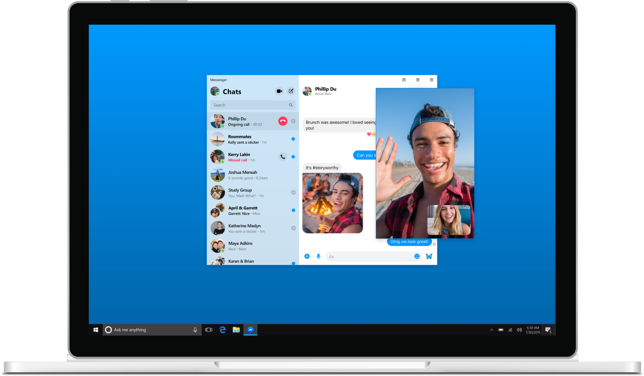 Ecco Messenger Rooms nell'app per Windows 10